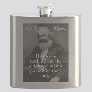 History Is Nothing - Karl Marx Flask