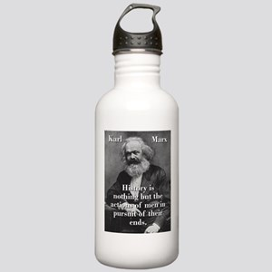 History Is Nothing - Karl Marx Water Bottle