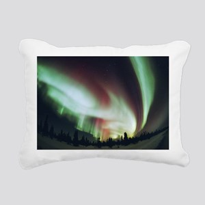 Aurora borealis - Rectangular Canvas Pillow