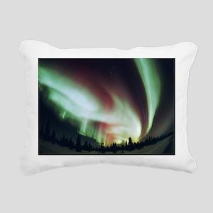 Aurora borealis - Rectangular Canvas Pillow