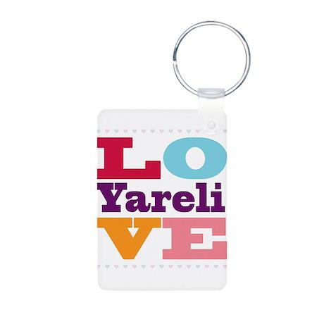 I Love Yareli Aluminum Photo Keychain
