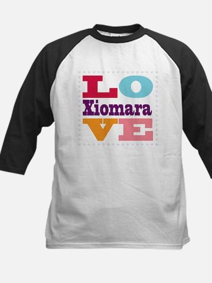 I Love Xiomara Kids Baseball Jersey