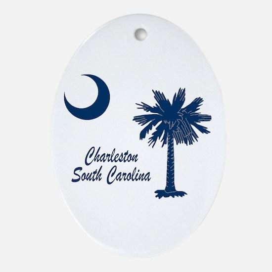 Charleston 4 Ornament (Oval)