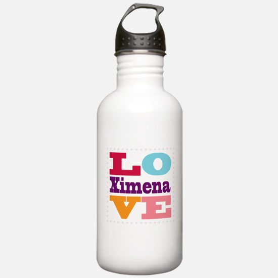 I Love Ximena Water Bottle