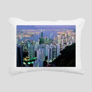 Hong Kong at dawn - Rectangular Canvas Pillow