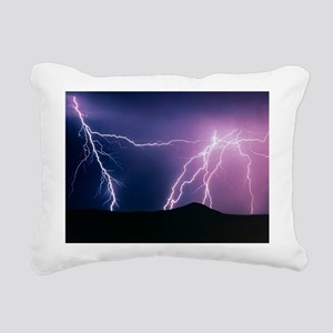 Lightning strikes at night, New Mexico - Rectangul
