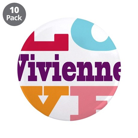 "I Love Vivienne 3.5"" Button (10 pack)"
