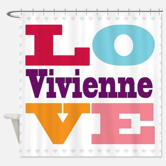 I Love Vivienne Shower Curtain