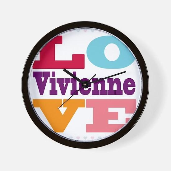 I Love Vivienne Wall Clock