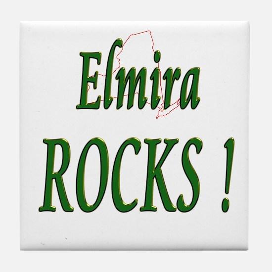 Elmira Rocks ! Tile Coaster