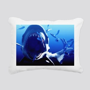 Megalodon prehistoric shark - Rectangular Canvas P