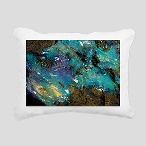 Opal on bedrock - Rectangular Canvas Pillow