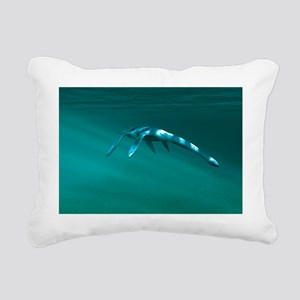 Plesiosaur - Rectangular Canvas Pillow