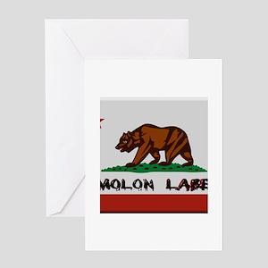 California Flag Molon Labe Greeting Card