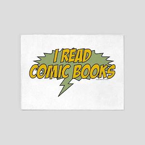 I read comic books 5'x7'Area Rug