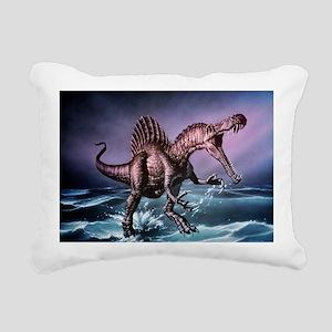 Spinosaurus dinosaur - Rectangular Canvas Pillow