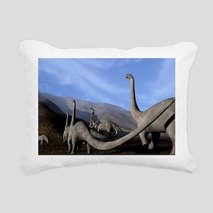 Sauropod dinosaurs - Rectangular Canvas Pillow