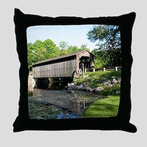 Fallasburg Covered Bridge Throw Pillow