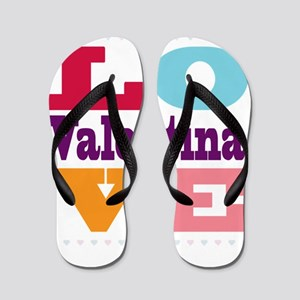 I Love Valentina Flip Flops