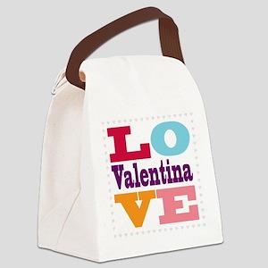 I Love Valentina Canvas Lunch Bag