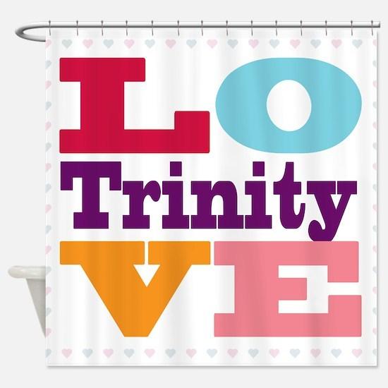 I Love Trinity Shower Curtain