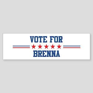 Vote for BRENNA Bumper Sticker
