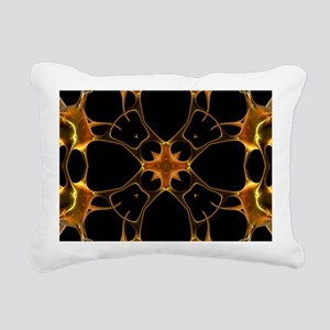 Neurons, kaleidoscope artwork - Rectangular Canvas