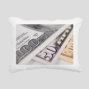US Dollar banknotes - Rectangular Canvas Pillow