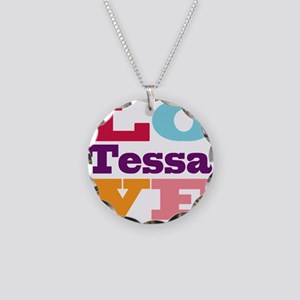 I Love Tessa Necklace Circle Charm