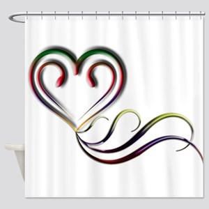 Love Whispers Shower Curtain