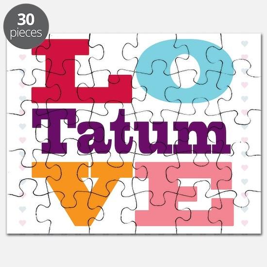 I Love Tatum Puzzle