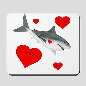 Personalized Shark - Heart Mousepad