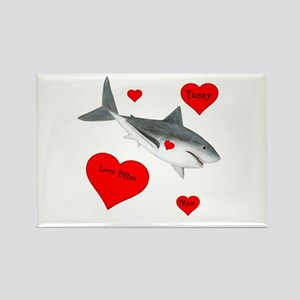 Personalized Shark - Heart Rectangle Magnet