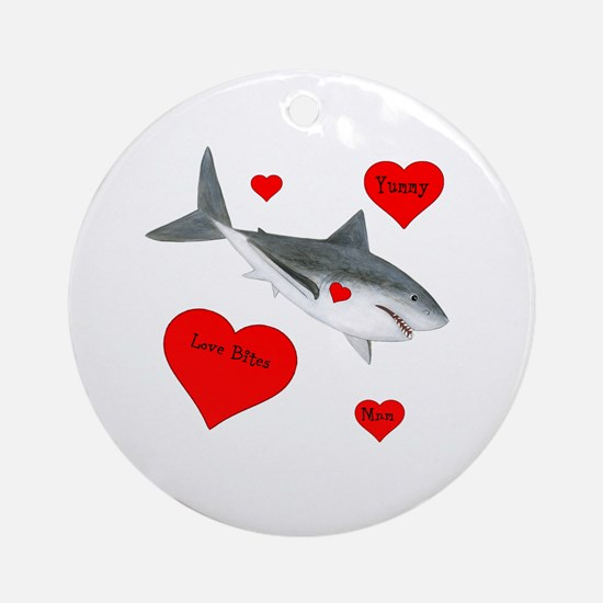 Personalized Shark Ornament (Round)