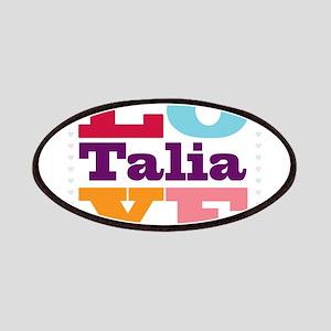 I Love Talia Patches