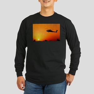 Ah-64 Apahce Long Sleeve Dark T-Shirt
