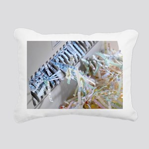 Paper shredder - Rectangular Canvas Pillow
