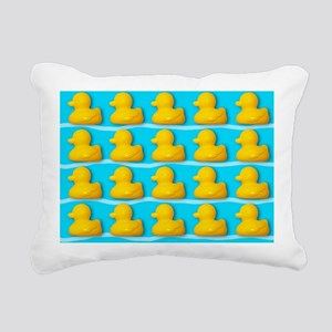 Rubber ducks - Rectangular Canvas Pillow
