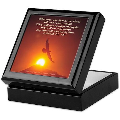 Soaring Eagle / Bible Verse Keepsake Box