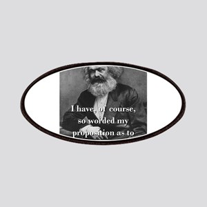 I Have Of Course - Karl Marx Patch