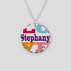 I Love Stephany Necklace Circle Charm