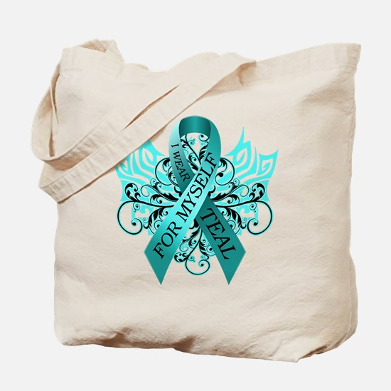 I Wear Teal for Myself Tote Bag