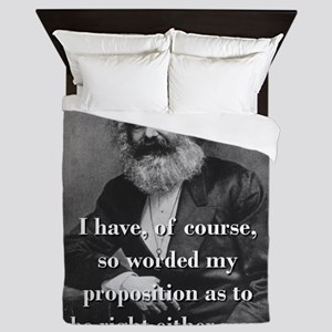 I Have Of Course - Karl Marx Queen Duvet