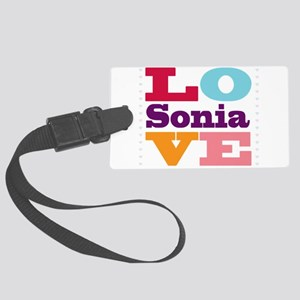 I Love Sonia Large Luggage Tag