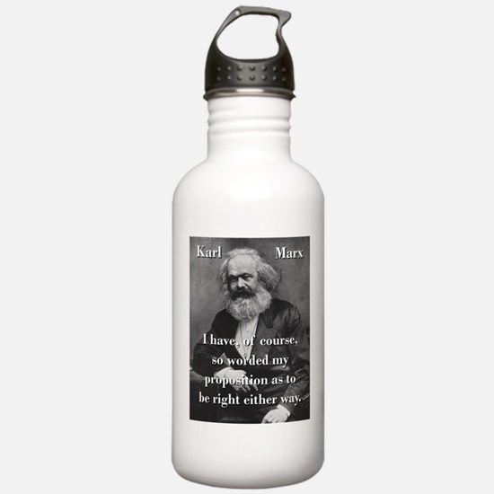 I Have Of Course - Karl Marx Water Bottle