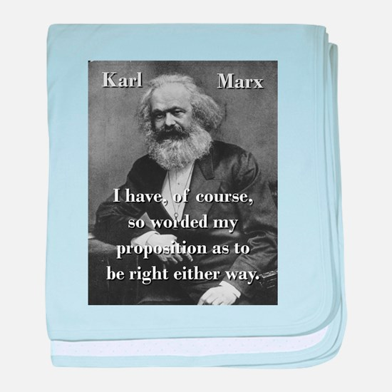 I Have Of Course - Karl Marx baby blanket