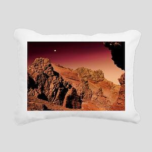 Martian landscape - Rectangular Canvas Pillow