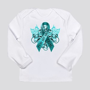 I Wear Teal for my Mom Long Sleeve Infant T-Shirt