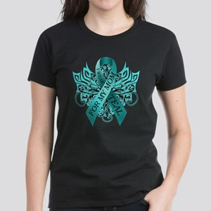 I Wear Teal for my Mom Women's Dark T-Shirt