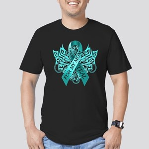 I Wear Teal for my Mom Men's Fitted T-Shirt (dark)